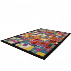 Huriel Multi Coloured Rug Angled View