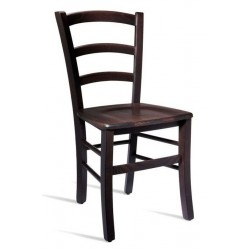 Italian design wooden dining chair in Wenge