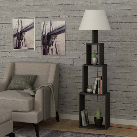 Torre A Floor Lamp Anthracite and White
