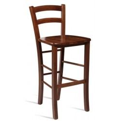 Italian design wooden bar stool in Walnut