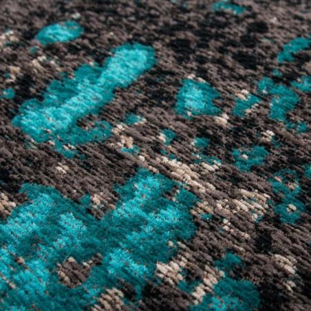 Elisha Patterned Rug - Blue Pattern detail