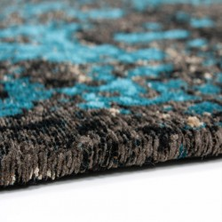 Elisha Patterned Rug - Blue Edge Detail