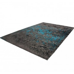 Elisha Patterned Rug - Blue angled View