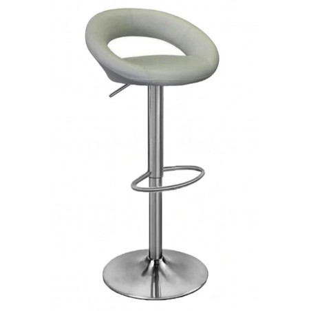 Sorrento Brushed Bar Kitchen Stool, grey front angled view