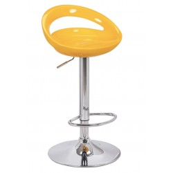 Sorrento Swivel Bar Stool, yellow , front angled view