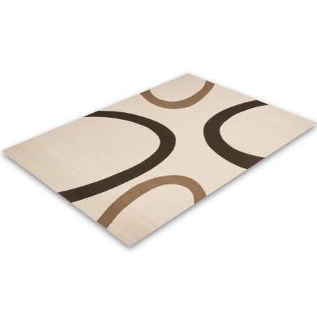 Bricy Stylish Rug - Ivory Angled View