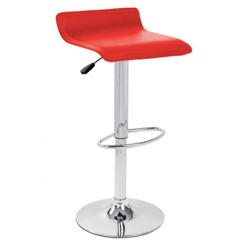 Baceno Bar Stool, red front angled view