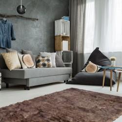 Lasko Natural Sheepskin Rug Room Shot