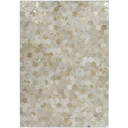 Eger Honeycomb Patterned Rug - Gold