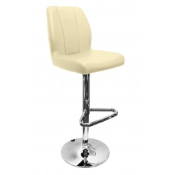Ravenna Bar Stool, cream front angled view