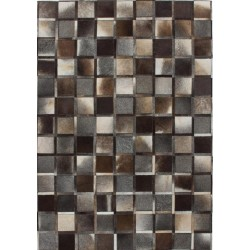 Crema Checker-board Rug