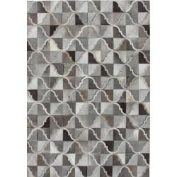 Crema Patterned Rug - Grey