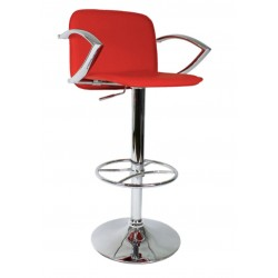 Bueno Bar Stool, red, front angled view