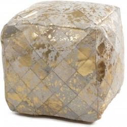 Crema Patchwork Cushion Seat - Gold