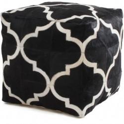 Crema Patterned Cushion Seat - Black