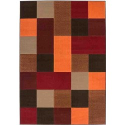 Reux Colourful Retro Rug - Red