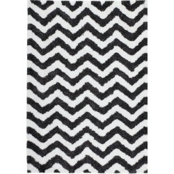 Arras Zigzag Patterned Rug - White