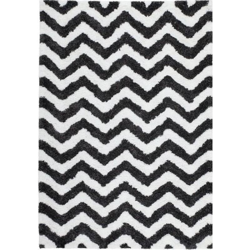 Arras Zigzag Patterned Rug - White