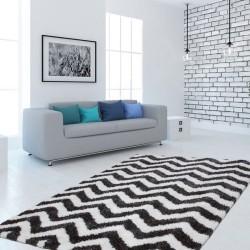 Arras Zigzag Patterned Rug - White Room Shot
