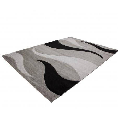 Budrio Artful Rug - Silver Angled View