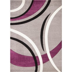 Budrio Patterned Rug - Silver