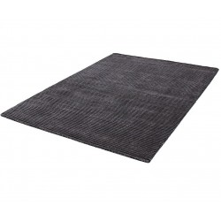 Erbe Striped Rug - Grey Angled View