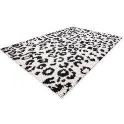 Onano Leopard Patterned Rug - White Angled View