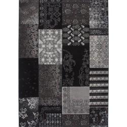 Rotal Patchwork Rug - Black
