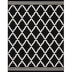Valva Patterned Rug - Black