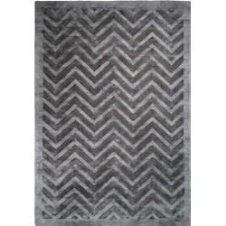 Petraro Zigzag Rug Grey & Black