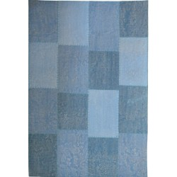 Goria Square Patterned Rug - Blue
