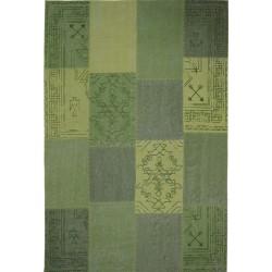 Goria Patchwork Rug - Green