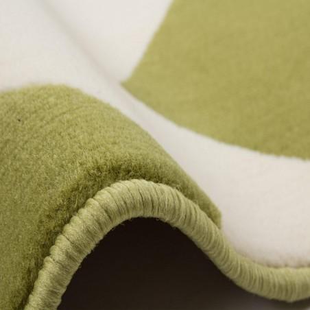Premia Zigzag Rug - Green Edge Detail
