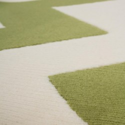 Premia Zigzag Rug - Green Pattern Detail