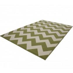 Premia Zigzag Rug - Green Angled View