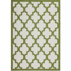 Premia Patterned Rug Ivory & Green
