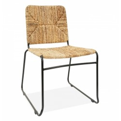 Broughton Woven Dining Chair, front angled view