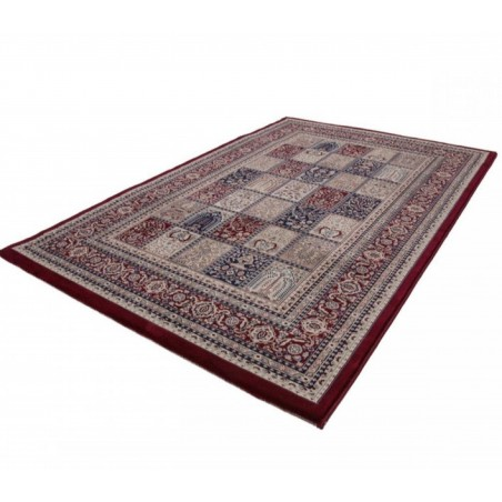 Culan Persian Patterned Rug - Red Angled View