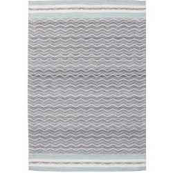 Amato Jacquard Patterned Rug - Blue