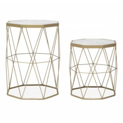 Aldis Marble Side Tables, front view