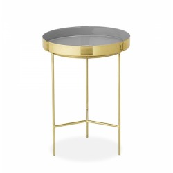 Giana Metal Tray Side Table, grey, front view