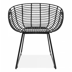 Quenby Rattan Dining Chair, front view