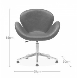 Keene Faux Leather Swan Chair, measurements