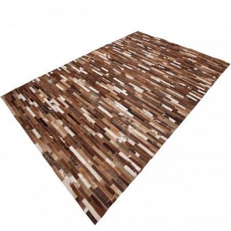 Trieste Patterned Rug - Beige Angled View