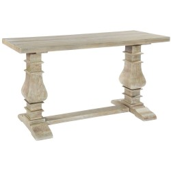 Bradford Solid Light Wood Console Table, angle view