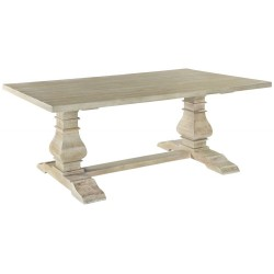 Solid Light Wood Rectangular Dining Table