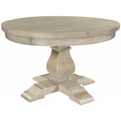 Bradford Solid Light Wood 130cm Round Dining Table