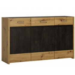 Andorra Sideboard - 3 Doors 3 Drawers, angle view
