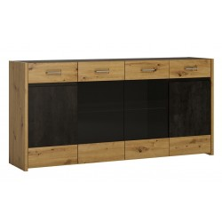 Andorra Sideboard - 4 Doors 2 Drawers, angle view