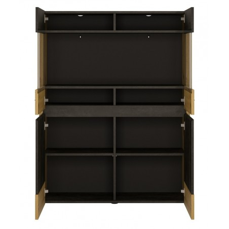 Andorra Display Cabinet - Low & Wide, open door detail